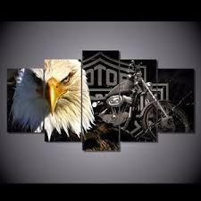 Image Is Loading Harley Davidson Motor Cycles Wall Art Canvas Print