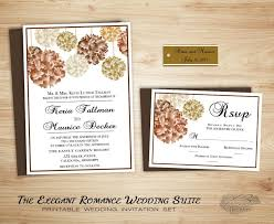 Stunning Fall Floral Country Wedding Invitation Suite Printable Romantic Backyard