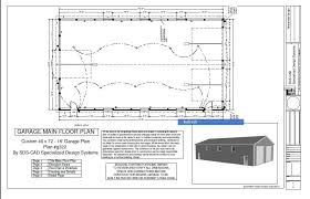 G322 Custom 40 X 72 16 Garage Plan
