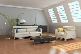 light wood floors with furniture