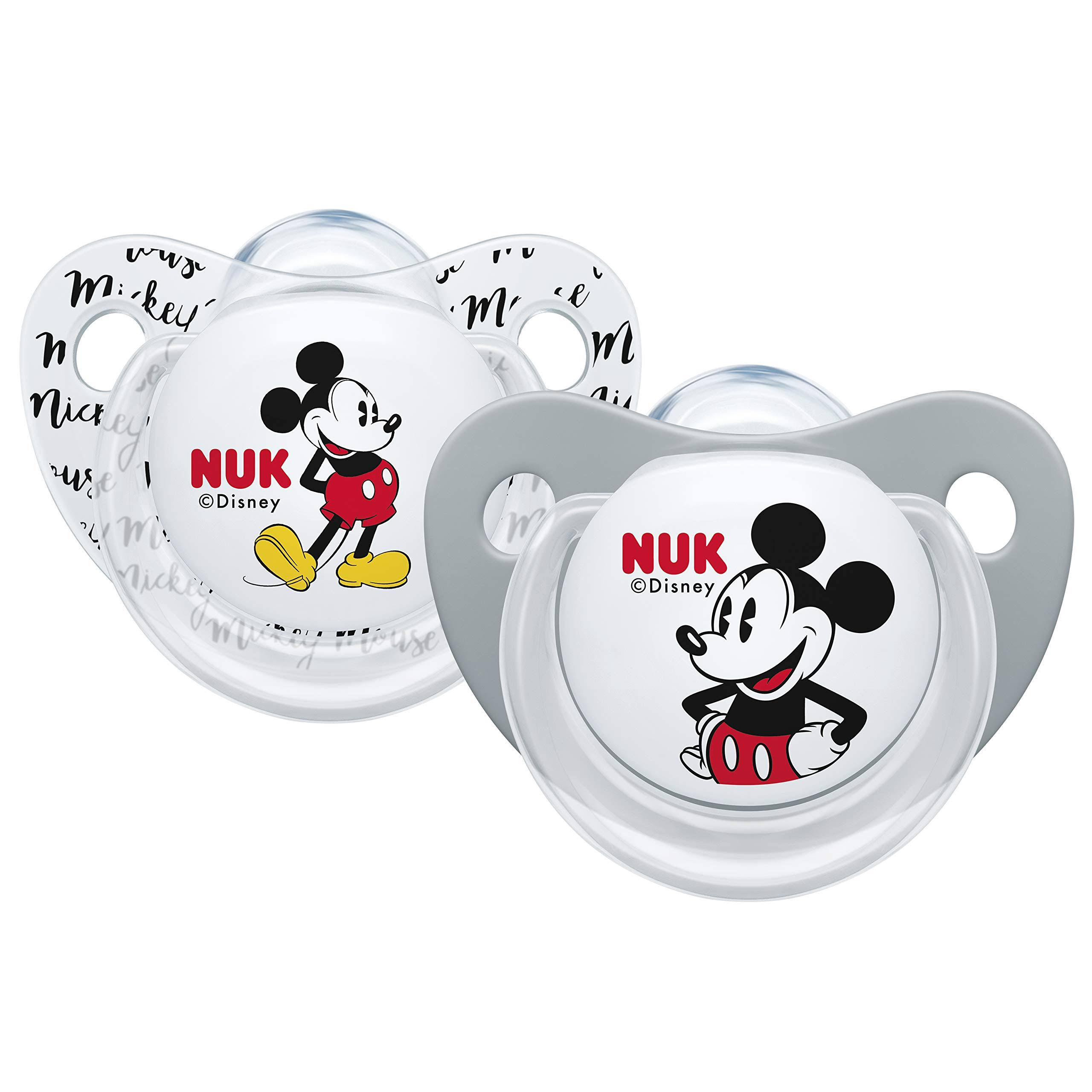NUK Disney Silicone Soother 0-6m 2pk