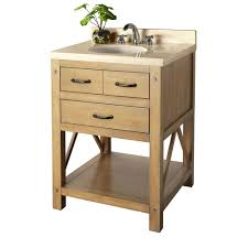 Foremost Naples Bathroom Vanity by Foremost Avondale 25 In Vanity In Weathered Pine With Marble