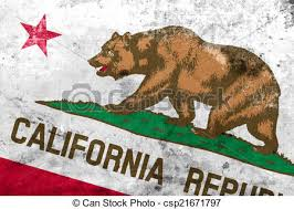 California State Flag With A Vintage And Old Look