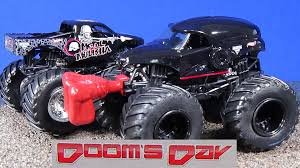 Monster Jam Dooms Day, The Patriot, Metal Mulisha, Bounty Hunter ... Monster Jam Truck Catches Fire Youtube Beamng Drive Crash Testing 61 Bus For Children School Kids New 3d Trucks Toy Factory Surprise Egg Scbydoo Trucks For Children Learn To Count With Hulk Monster Truck Video For 2016 At Stowed Stuff 2017 Lego Monster Truck Transporter 60027
