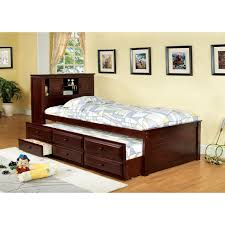 Furniture of America Brighton Twin Bookcase Headboard Storage Bed