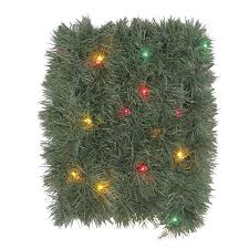 Holiday Living Pre Lit 18 Ft Soft Pine Garland With Multicolor Incandescent Lights