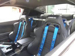 Corbeau Mustang LG1 Racing Seat Wide Black Pair kit 79 17