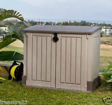 Suncast Horizontal Utility Shed Bms2500 by Plastic Horizontal Garden U0026 Storage Sheds Ebay