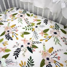 Woodland Themed Nursery Bedding by Floral Woodland Modern Baby Crib Bedding