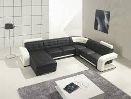 Modern Leather Sectional Sofa Furniture — Contemporary