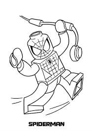 Lego Spiderman Coloring Picture For Kids