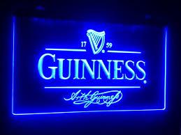 b 91 guinness beer bar pub club 3d signs LED Neon Light Sign man
