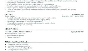 Welding Resume Objective Examples Welder Sample Practicable