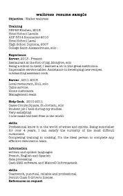 Restaurant Hostess Resume Waitress Sample Waiter Cv