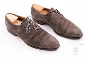 St Crispin Derby With Light Grey Shoelaces By Fort Belvedere Before After Allen Edmonds Shoes