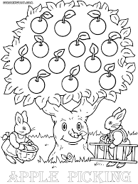 Apple Tree Coloring Book