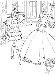 Barbie Coloring Pages For Girls Princess Printable Free Oncolor