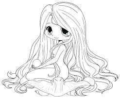 Anime Coloring Pictures Pages Cute Printable