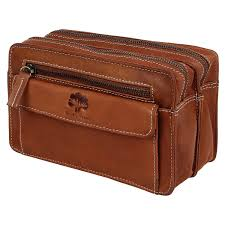 leather hand pouch men purse wallet clutch wrist bag rustic town