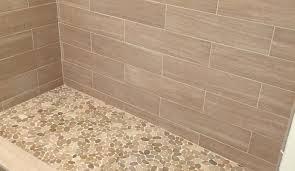 Sliced Pebble Tile Canada by Shower Commendable Awe Inspiring Tile Redi Barrier Free Shower