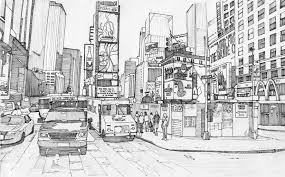 Times Square More Coloring Pages New York