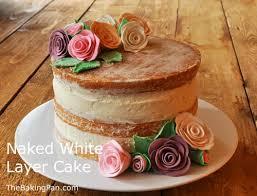 Naked White Layer Cake