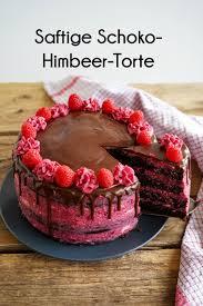 saftige himbeer schoko torte