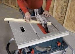 Using Bosch Portable Table Saw