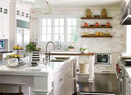 View In Gallery Bright Kitchen With Decorative Shelving