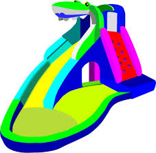 Bouncy Castle Water Slide Pool Vector Clip Art