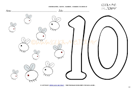 Number 10 Coloring Page Gallery View Larger