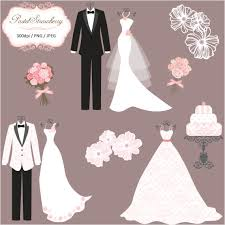 Suit clipart wedding gown 2