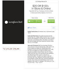 $20.00 Off $100.00 At Sunglass Hut. (In-Store Or Online ... 2000 Off 100 At Sunglass Hut Instore Or Online Apologia Online Academy Discount Codes And Coupon Tsverhq Coupon Code Boots Appliances Promotional 10 Off Wicked Fitness Coupons Promo Discount Intertional Asos Codes November 2019 Premier Tefl Get 65 99 The 1 Website Velocity Tech Solutions Hyatt Code Depot Home Facebook Promo Reability Study Which Is The Best Site Finder Find Latest For 20 Jigsaw Black