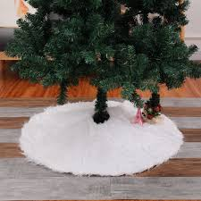 Christmas Tree Skirt Plush Xmas Home Party Festival Round Decor 78