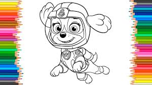 Skye Sea Patrol Coloring Pages PAW Book Videos For Children Learn Color Kids