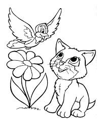 Christmas Kitten Coloring Pages Cat Download Printable Pdf