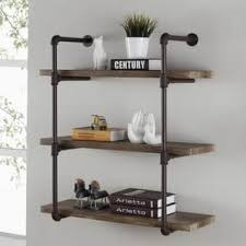 Danya B Three Tier Industrial Pipe Wall Shelf