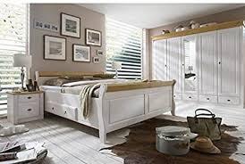 schlafzimmer komplett kiefer massiv weiß holz weiß
