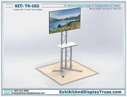 The T4 102 Portable LCD TV Stand For Trade Shows Is A Free Standing