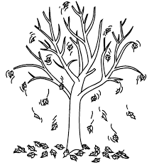 Clipart Black And White Fall Tree