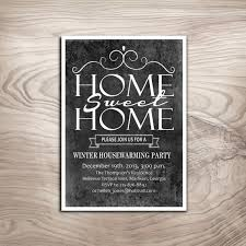 Chalkboard Housewarming Party Invitation Winter DIY Digital Printable Personalized