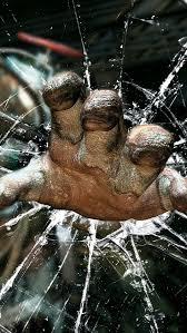 BioShock hand through glass iPhone 5 Wallpaper 640x1136