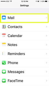 iPhone Set up email