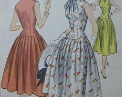 Fabulous Vintage 50s Misses Dress Pattern ROCKABILLY DRESS