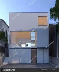 100 Minimal House Design Japan Architecture Stock Photo