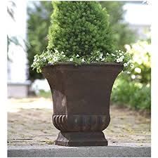 Rustic Metal Urn Large Planter