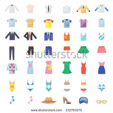 Summer Clothes Stock Vectors Amp Vector Clip Art Shutterstock With Articles Of Clothing Clipart