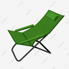 Green Deck Chair, Lounge Chair, Folding, Seat PNG ...