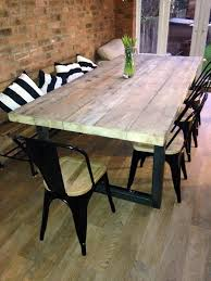 Reclaimed Industrial Chic 10 12 Seater Solid Wood And Metal Dining Room Tables That Seat