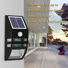 solar powered motion sensor led security wall light l outdoor